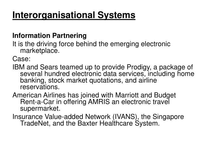 Interorganisational Systems