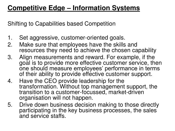 Competitive Edge – Information Systems