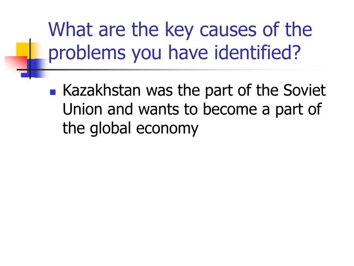 What are the key causes of the problems you have identified?