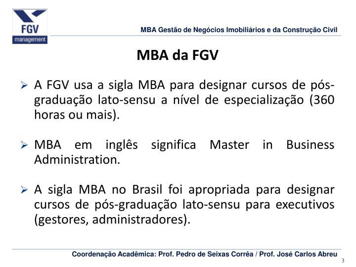 MBA da FGV