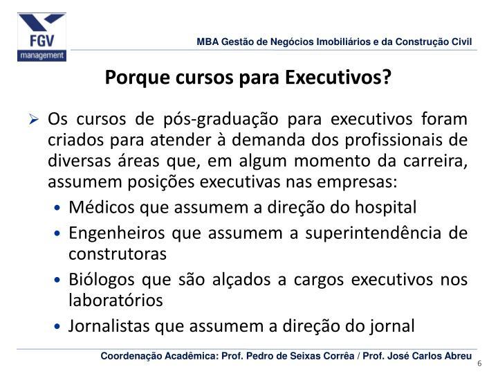 Porque cursos para Executivos?