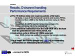 results d channel handling performance requirements