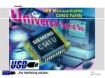 usb microcontroller c540u family