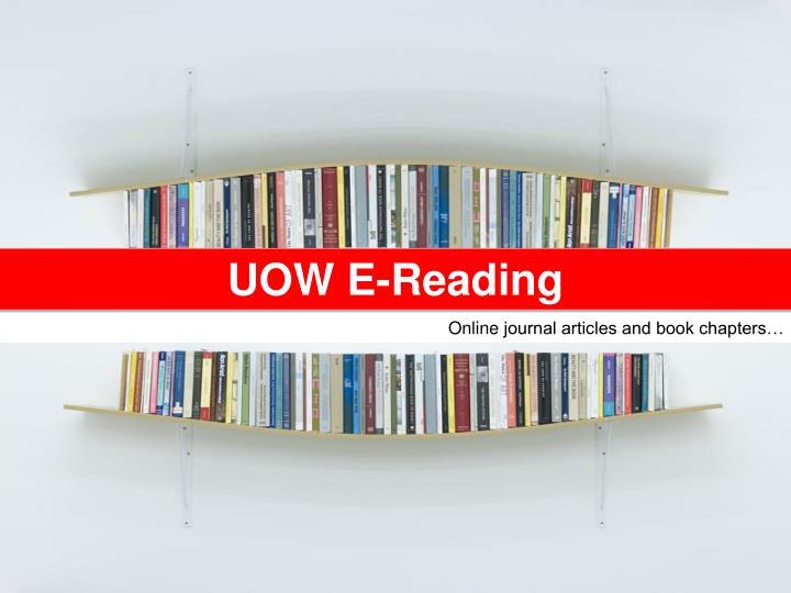 UOW E-Reading