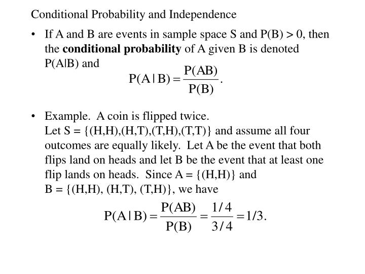 Ppt Conditional Probability And Independence Powerpoint