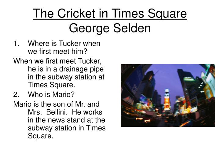 the cricket in times square george selden n.