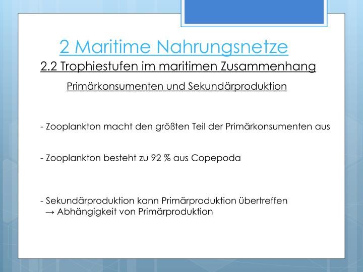 2 Maritime Nahrungsnetze