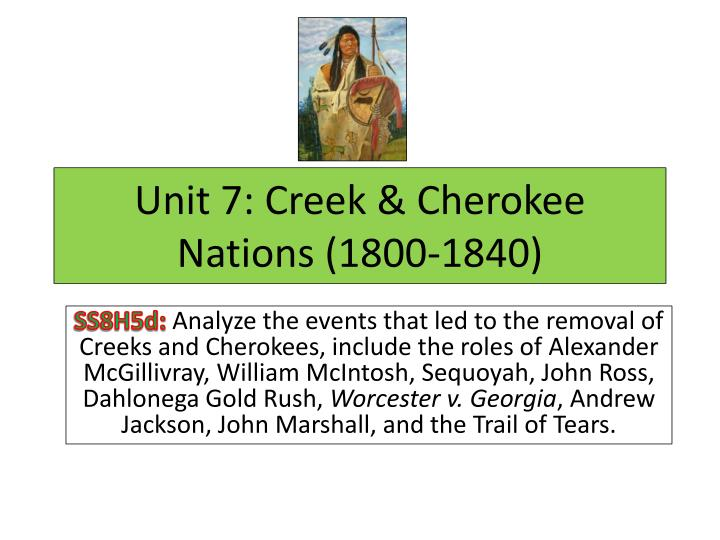 the removal of the cherokee cherokee removal chapter 2: georgia was one of the most important in the policy of indian removal and its relation to the cherokees no state wanted them out more, sent.