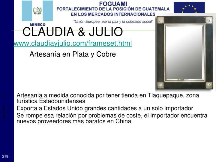 CLAUDIA & JULIO