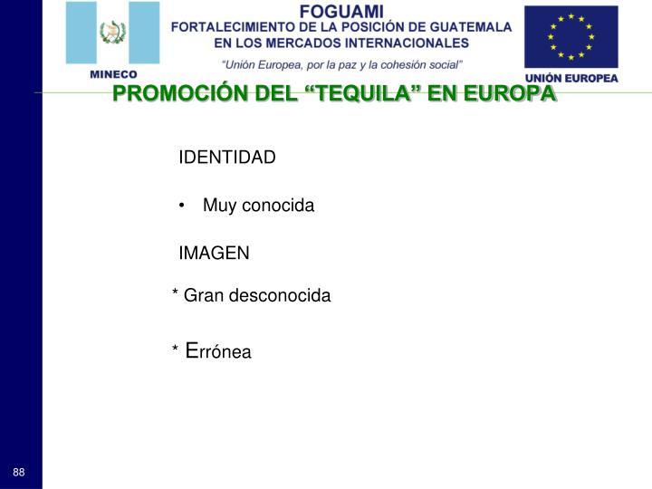 """PROMOCIÓN DEL """"TEQUILA"""" EN EUROPA"""