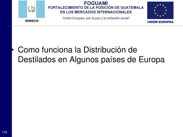 Como funciona la Distribución de Destilados en Algunos países de Europa