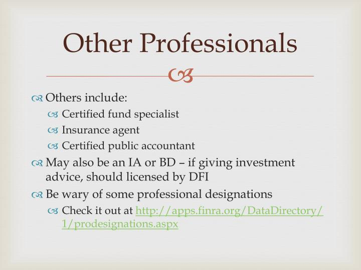 Other Professionals