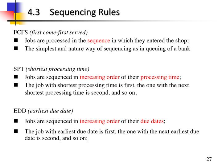 4.3Sequencing