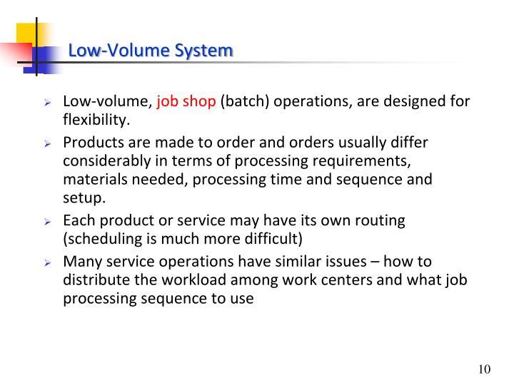 Low-volume,