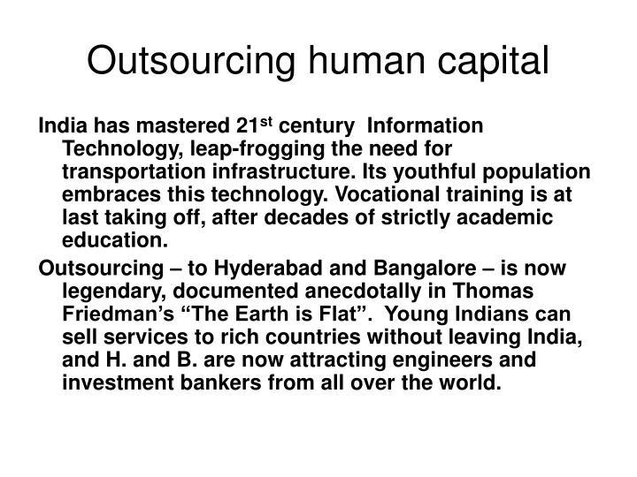 Outsourcing human capital