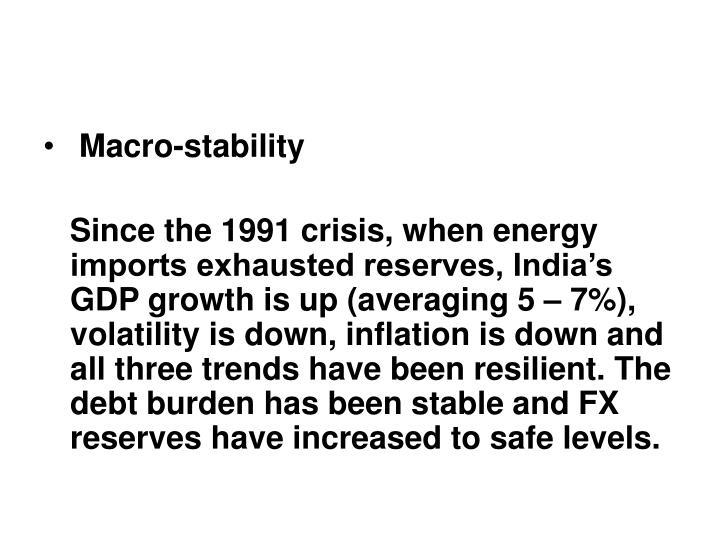 Macro-stability