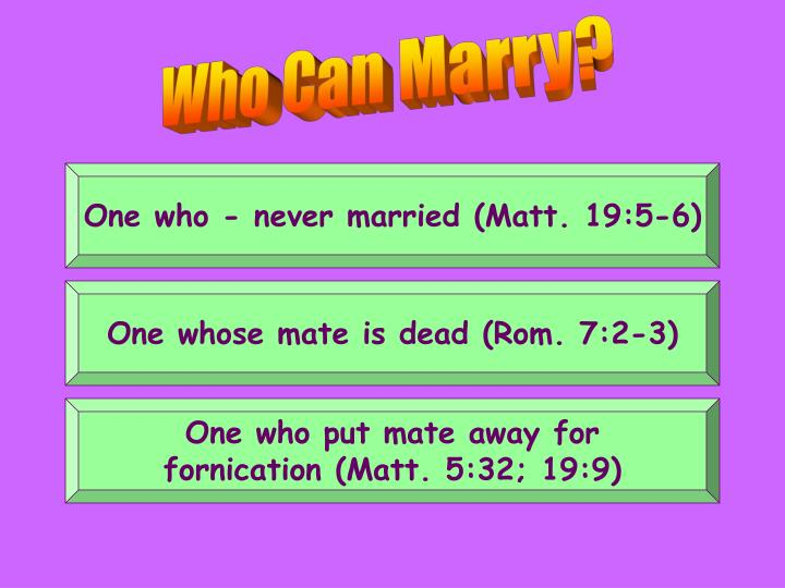 Who Can Marry?