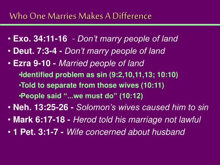 Who One Marries Makes A Difference