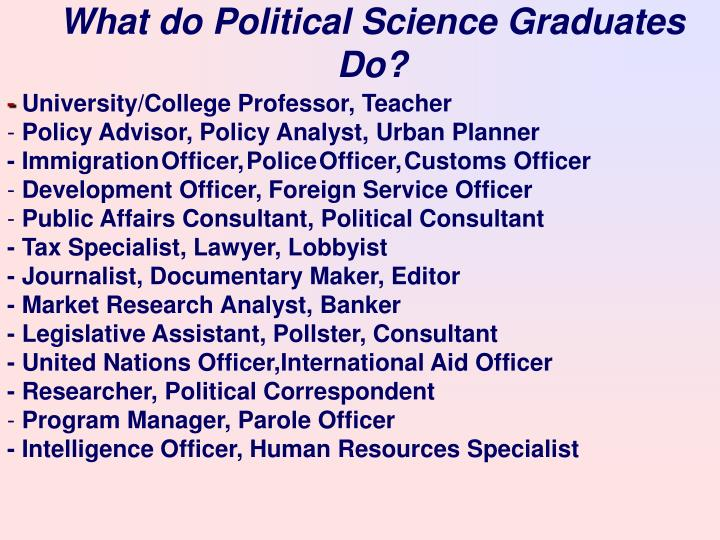What do Political Science Graduates Do?