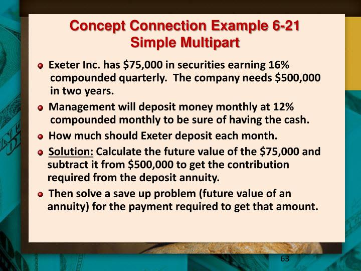Concept Connection Example 6-21