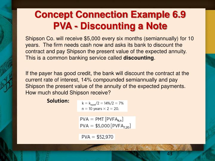 Concept Connection Example 6.9