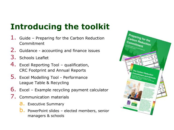 Introducing the toolkit