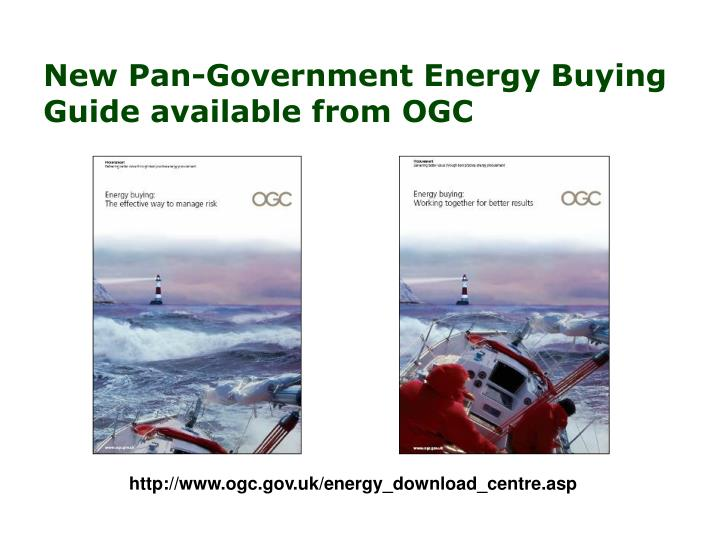 New Pan-Government Energy Buying Guide available from OGC