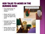 god talks to moses in the burning bush
