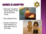 moses is adopted