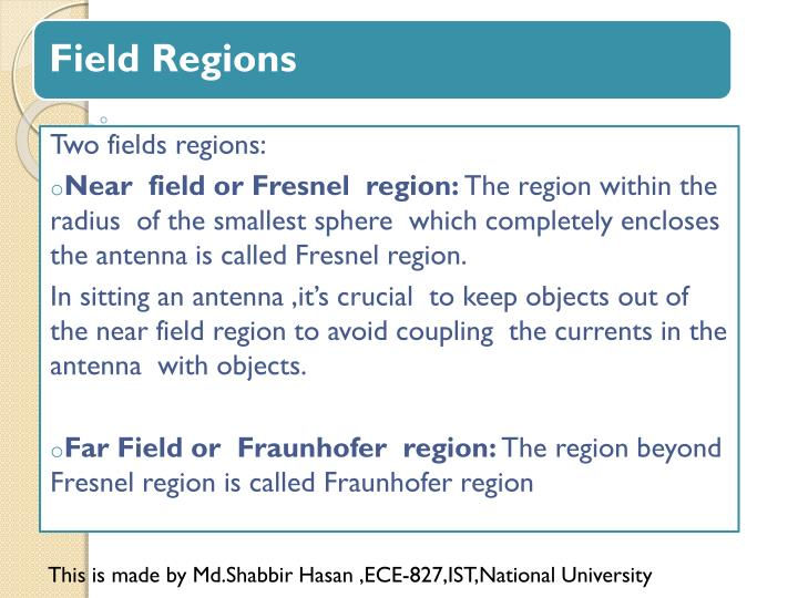 Two fields regions: