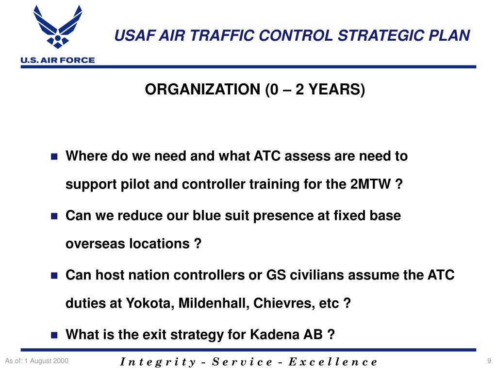 PPT - Air Traffic Control Strategic Plan PowerPoint Presentation