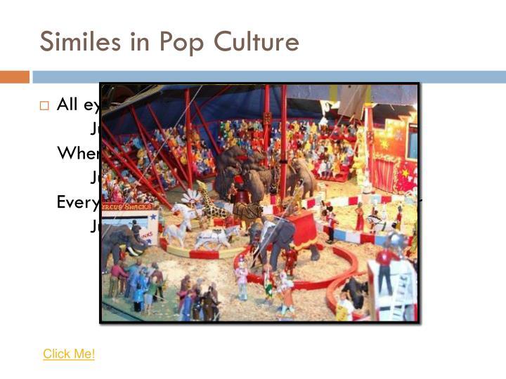 Similes in Pop Culture