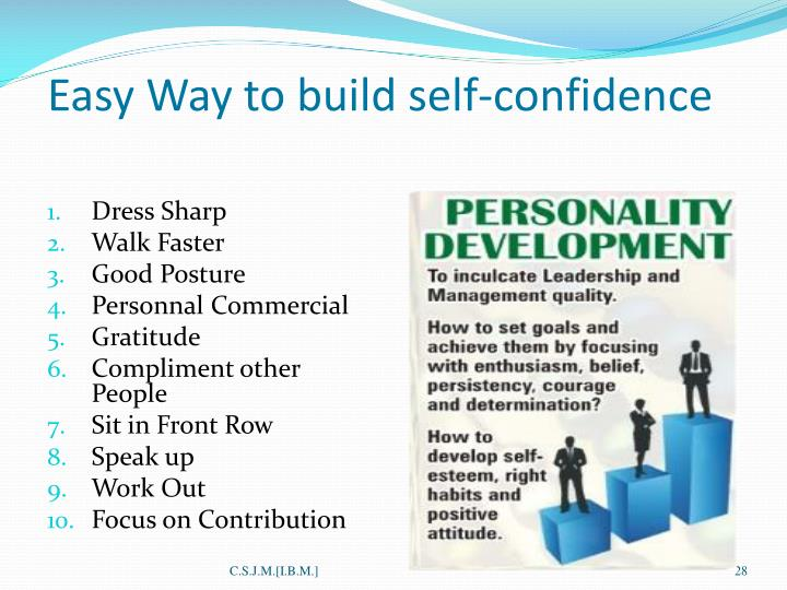 the easiest way to build self confidence