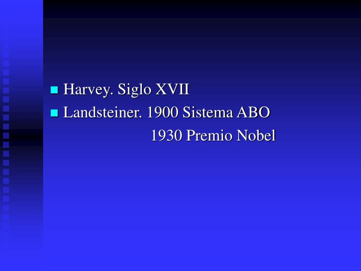 Harvey. Siglo XVII