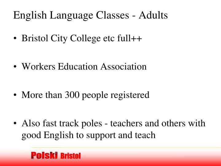 English Language Classes - Adults