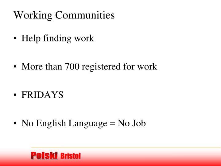 Working Communities