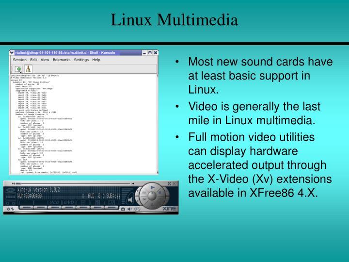 Linux Multimedia
