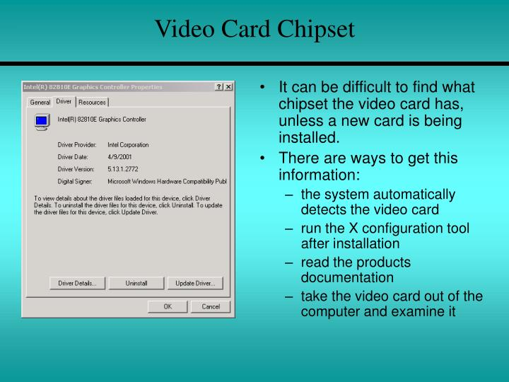 Video Card Chipset