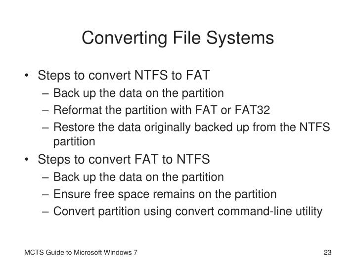 Converting File Systems