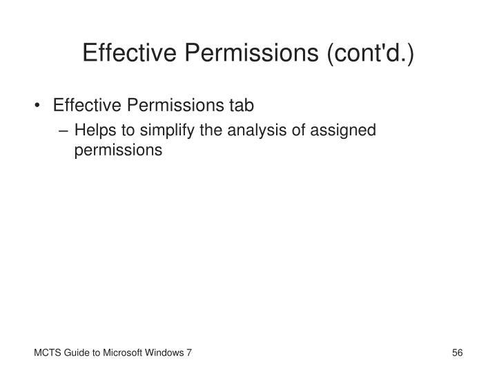 Effective Permissions (cont'd.)