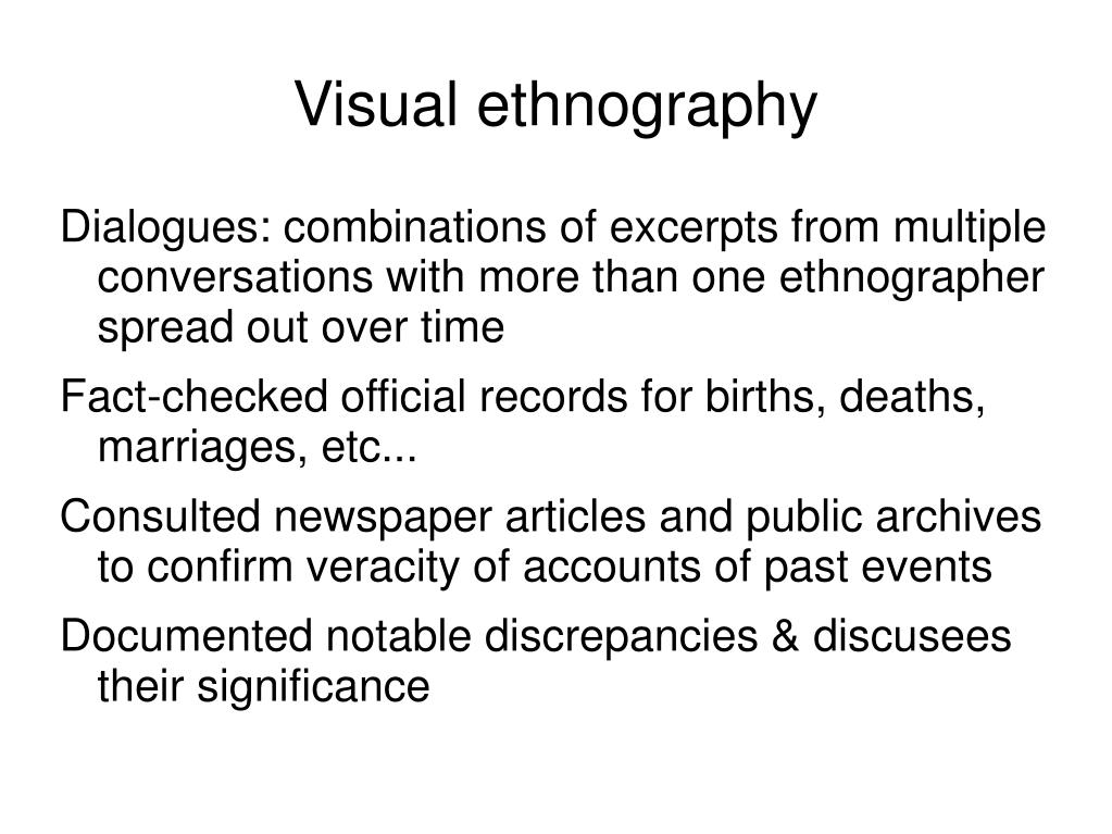 Ppt Visual Ethnography Powerpoint Presentation Free Download Id 5475208
