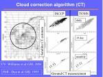 cloud correction algorithm ct