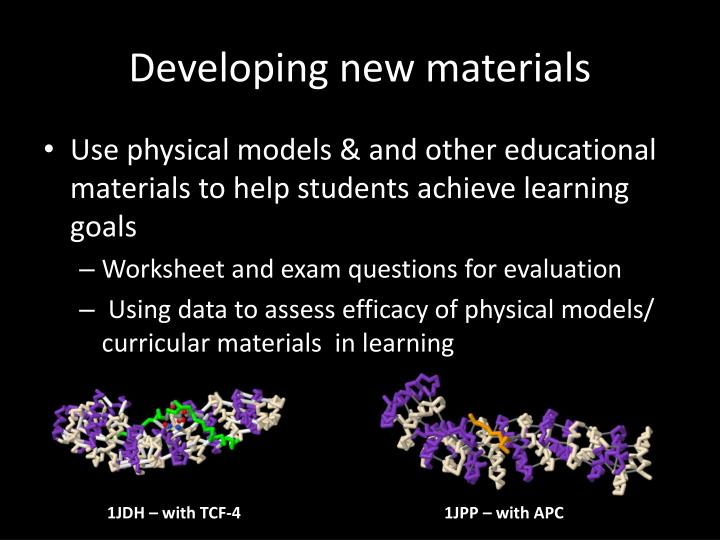 Developing new materials