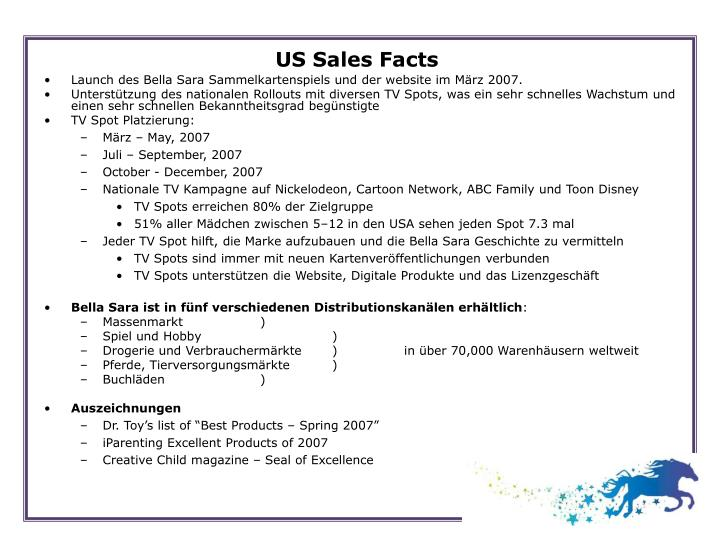 US Sales Facts