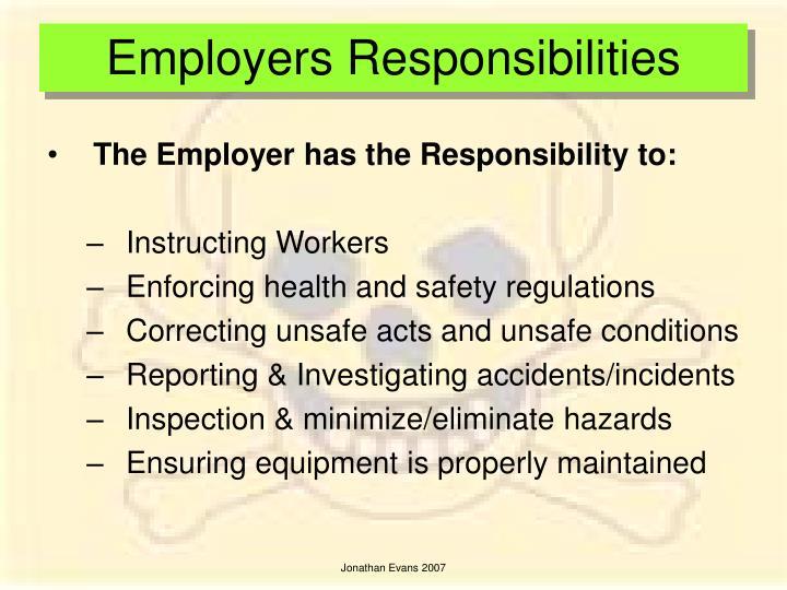 Employers Responsibilities