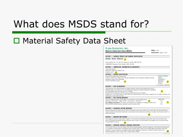 how to read material safety data