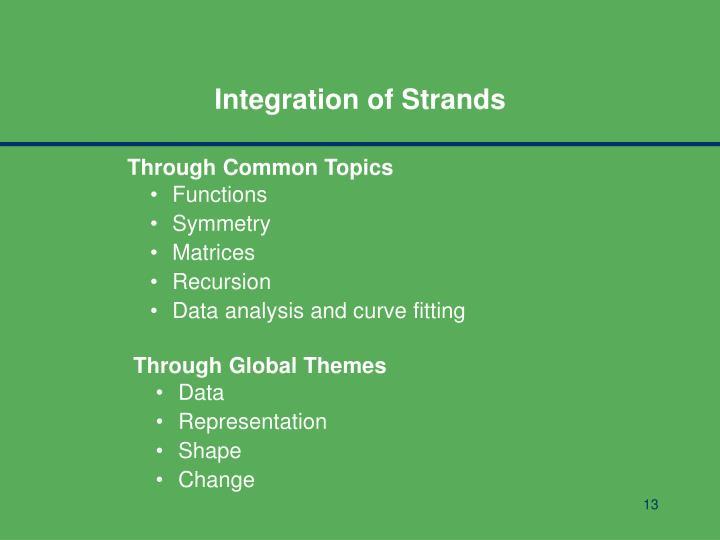 Integration of Strands