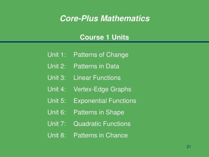 Core-Plus Mathematics