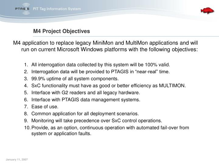 M4 project objectives