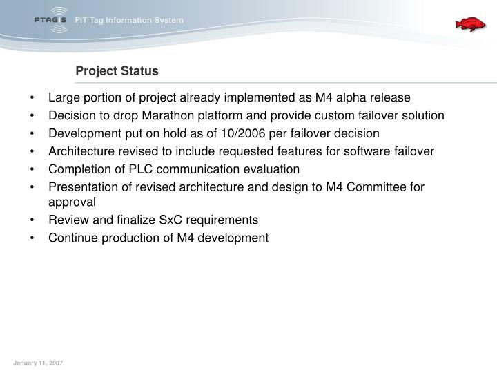 Large portion of project already implemented as M4 alpha release